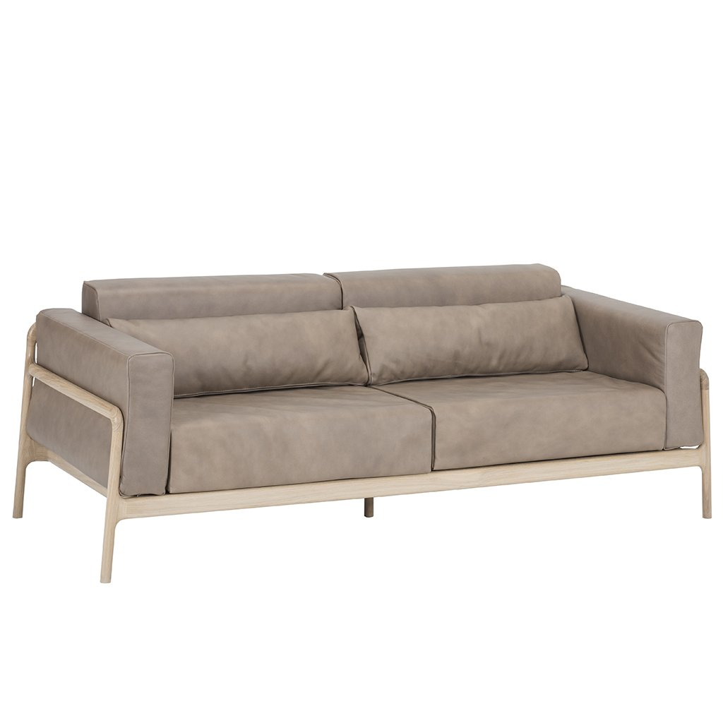 buy Fawn Sofa - Dakar Stone Leather online