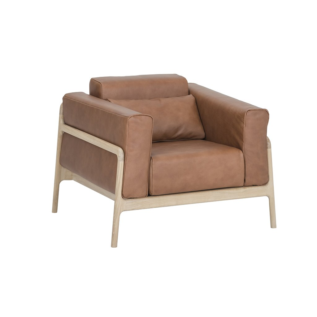 buy Fawn Armchair - - Dakar Whisky Leather online