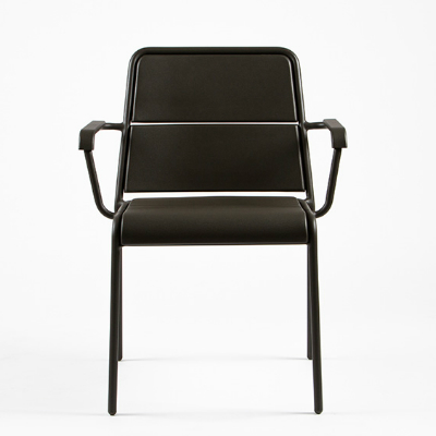 Maiori A600 Dining Arm Chair Charcoal