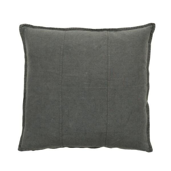 100% Pre-washed Coal Linen Cushion