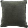 100% Cotton Velvet Cushion with Linen Piping - Khaki