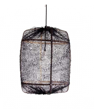 buy Z5 Lighting with Bamboo & Black Sisal Net - AY Illuminate online