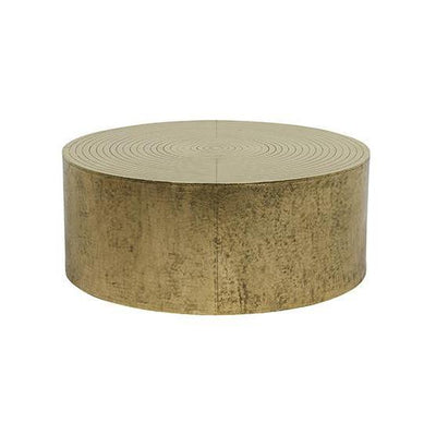 Taj Round Coffee Table Antique Brass