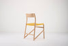 Fawn Oak Dining Chair - Yellow Cotton