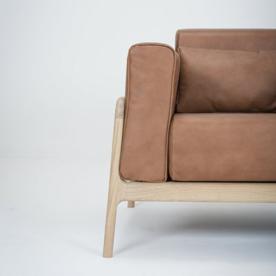 Fawn Armchair - - Dakar Whisky Leather