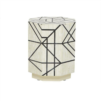 Bone Abstract Side Table