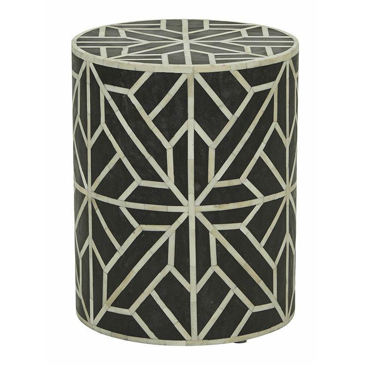 buy Bone Inlay Geometric Side Table online