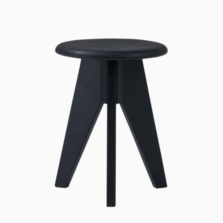 Sipa Short Stool in Black