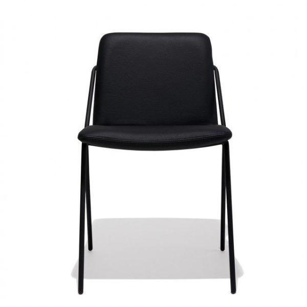 buy Max Dining Chair in Black Leather online