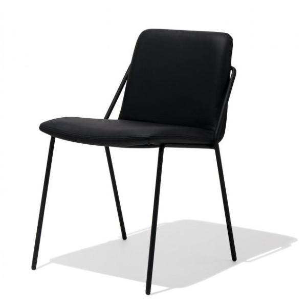 Max Dining Chair in Black Leather