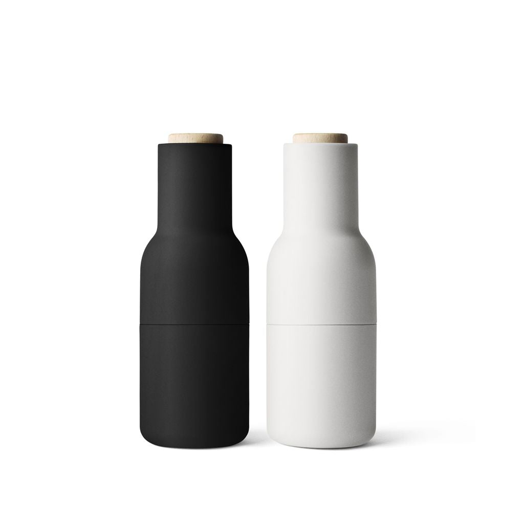 Menu Salt and Pepper Bottle Grinders Set in Ash/Carbon
