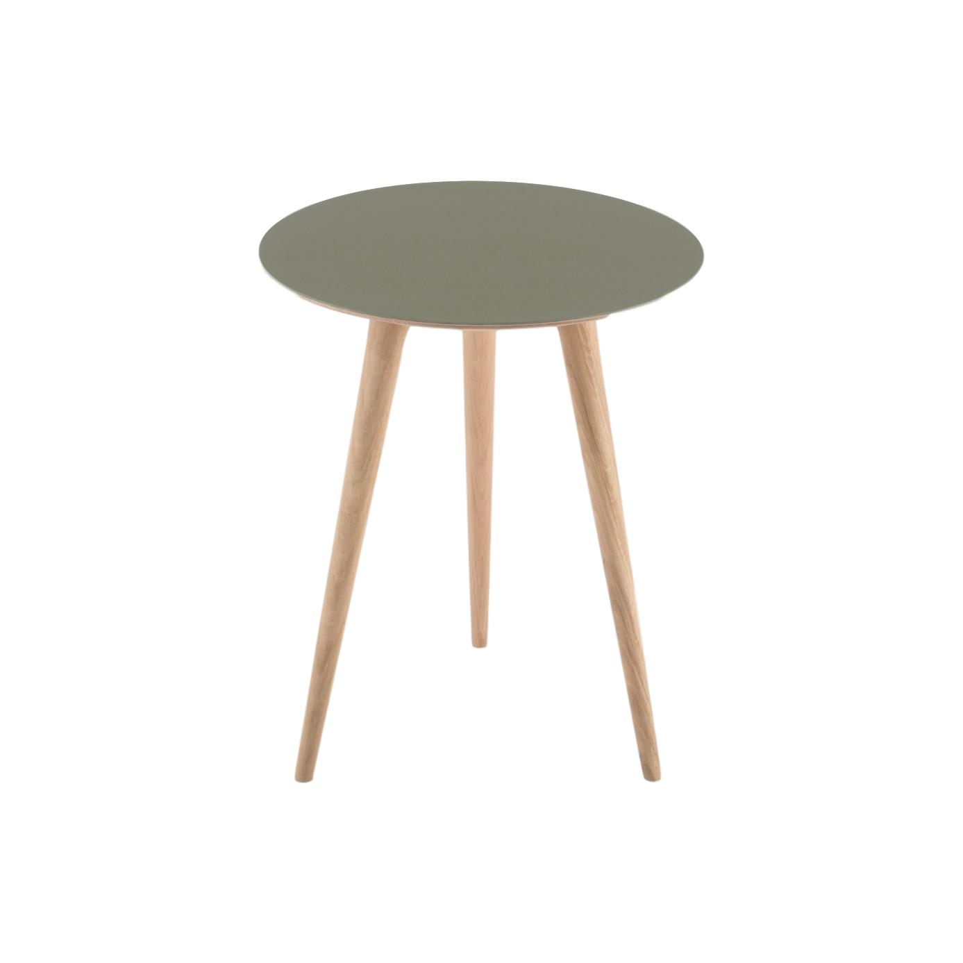 buy Arp Oak Side Table - Dark Olive online