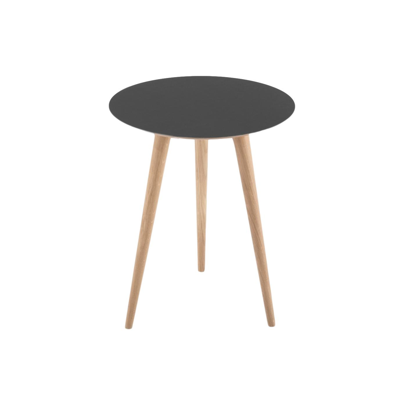 Arp Oak Side Table - Nero