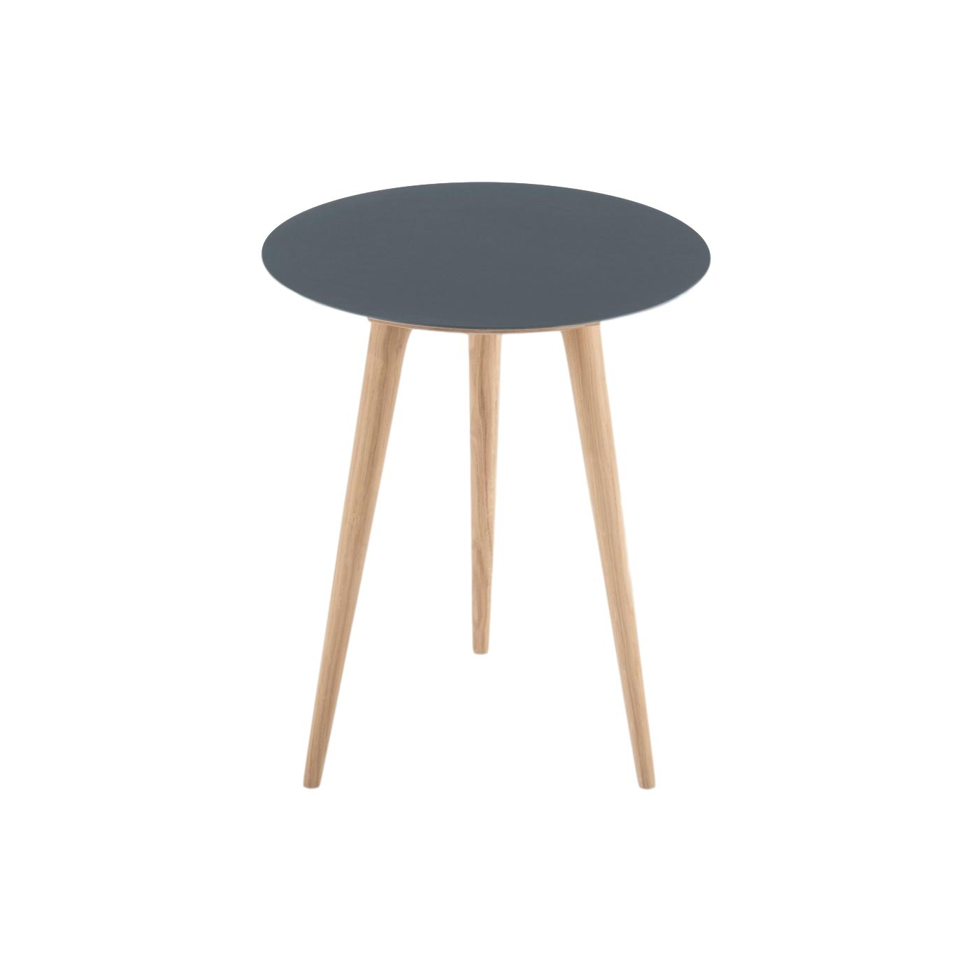 Arp Oak Side Table - Smoky Blue