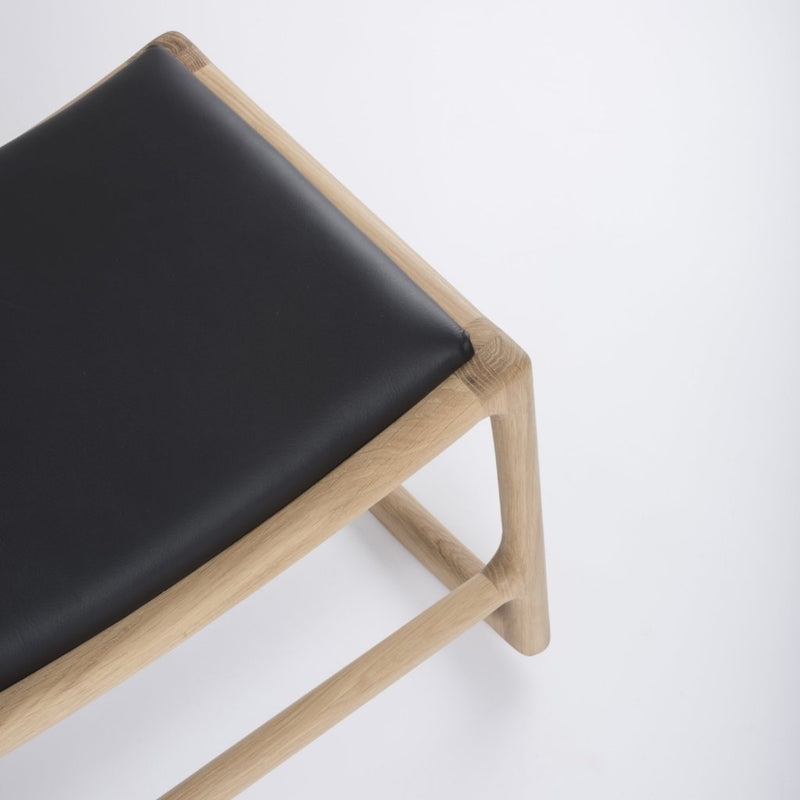 Dedo Footstool - Dakar Black Leather