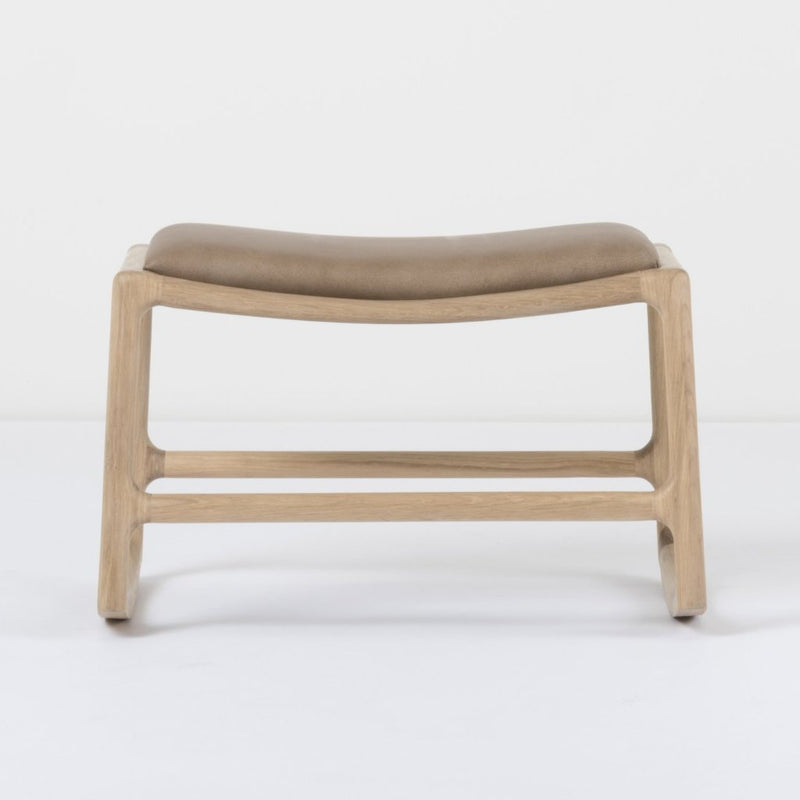 Dedo Footstool - Dakar Stone Leather