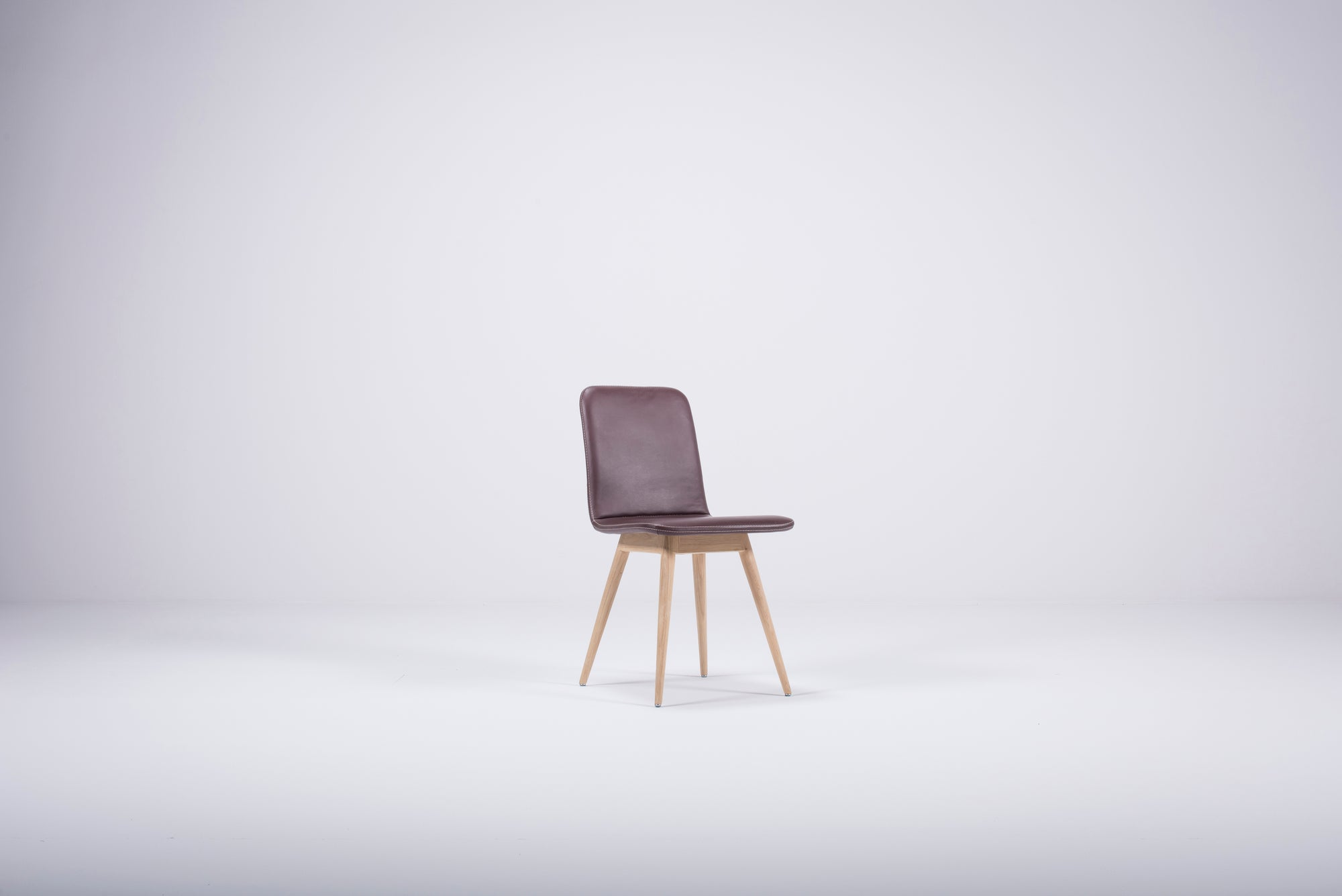 Ena Oak Dining Chair - Toledo Forest Leather