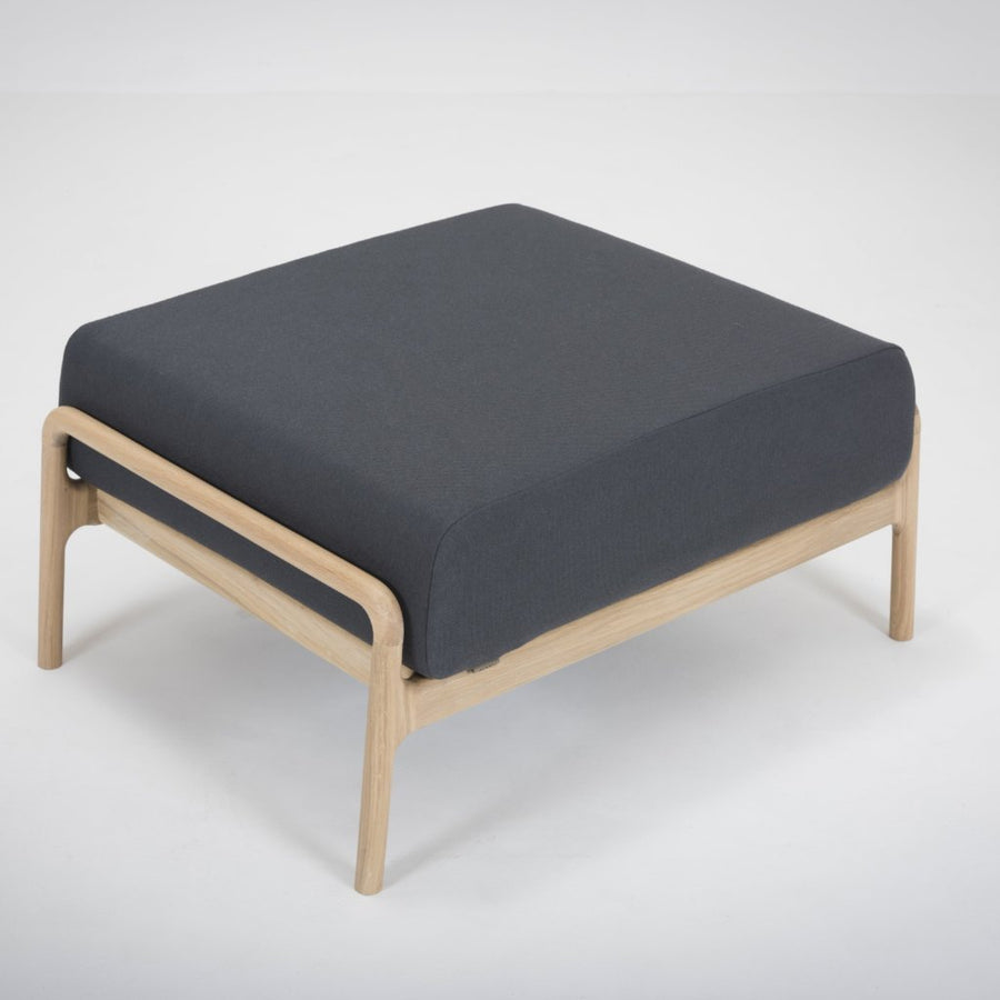 Fawn Oak Footstool - Blue Grey Everlast