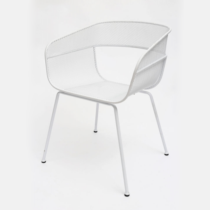 buy Scoop Outdoor Dining Chair in White online