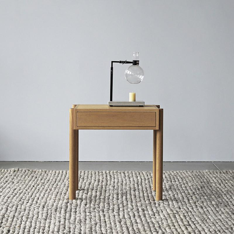 Exclusive - Linear Oak Bedside Table