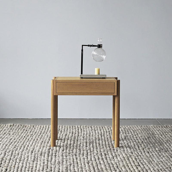 Exclusive Linear Oak Bedside Table Curious Grace