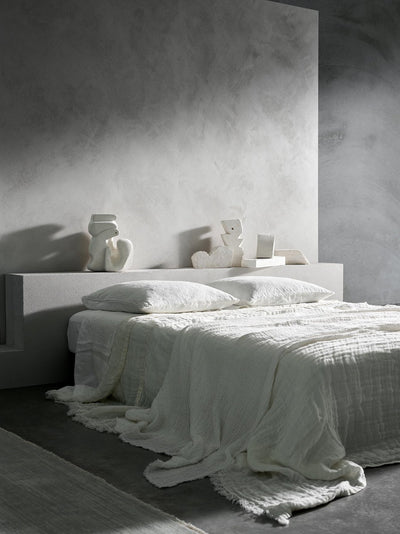 Gauze Pure Linen Coverlet - King