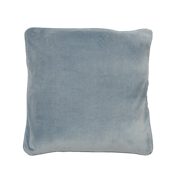buy 100% Cotton Silver Grey Velvet Cushion online
