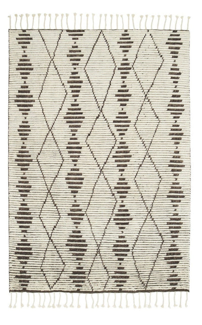 Natural and Shale Berber Knot Zulu - Armadillo Floor Rug