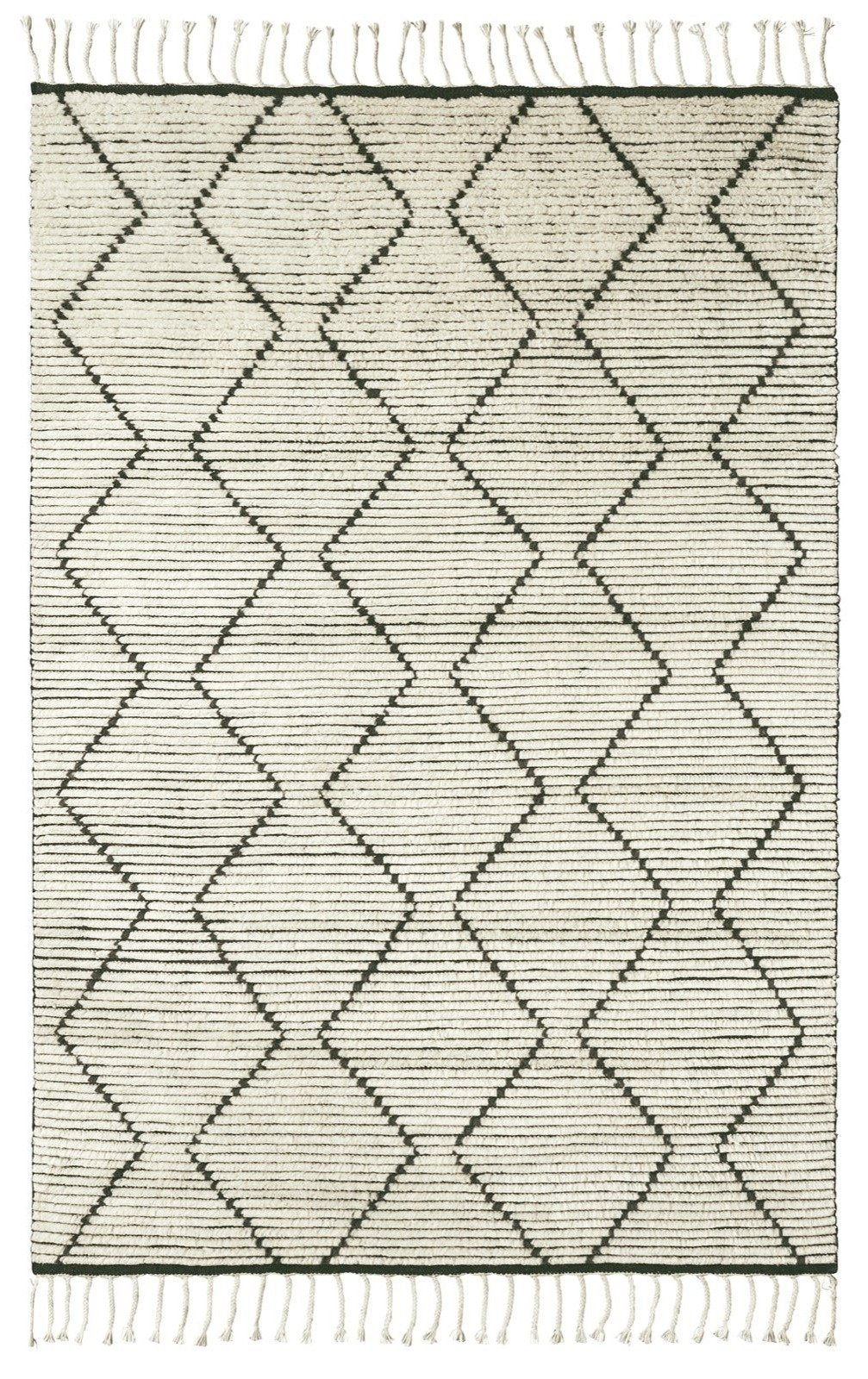 Natural and Slate Berber Knot Nala - Armadillo Floor Rug