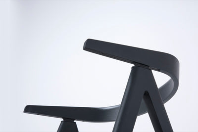buy Ava Oak Chair Black with Stone Dakar Leather online
