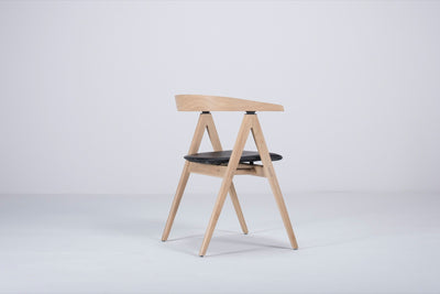 Ava Oak Chair with Black Dakar Leather