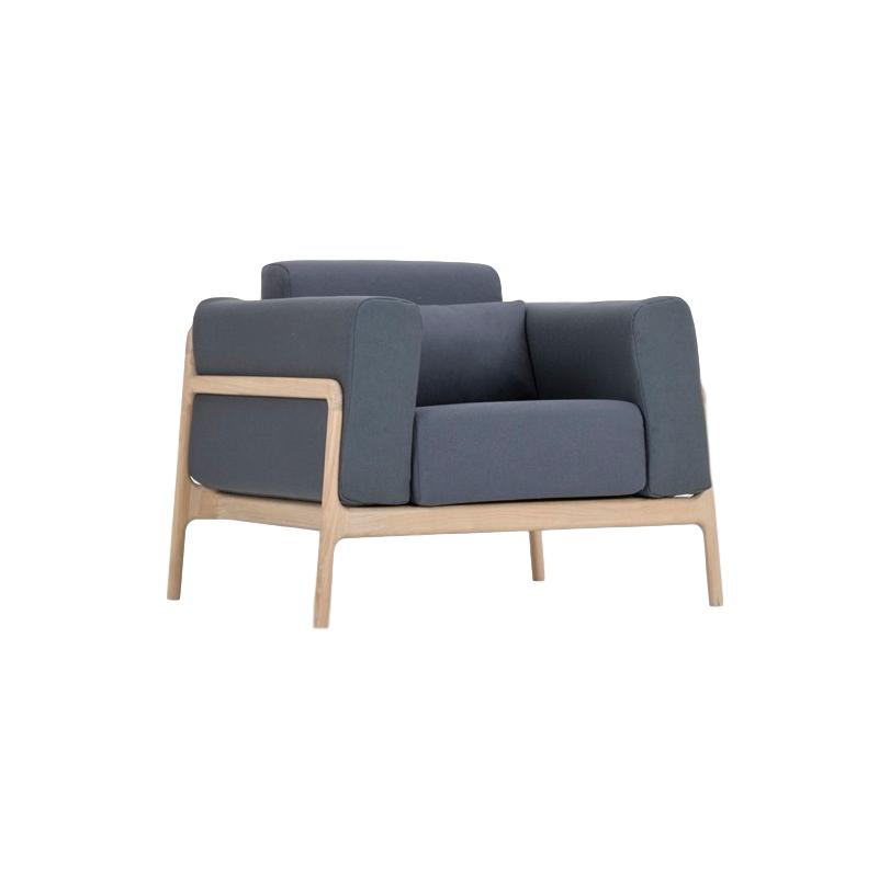 Fawn Armchair - Blue Grey Everlast