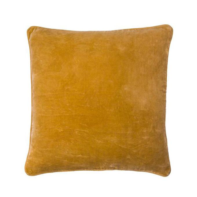 100% Cotton Mustard Velvet Cushion