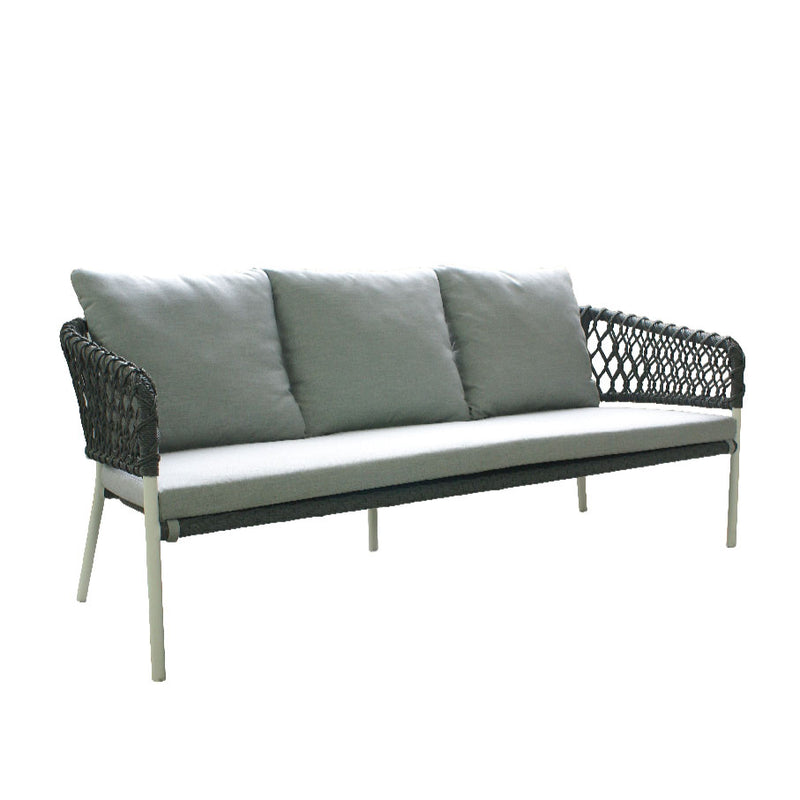 buy La Vie 3 Seater Sofa - Light Grey online