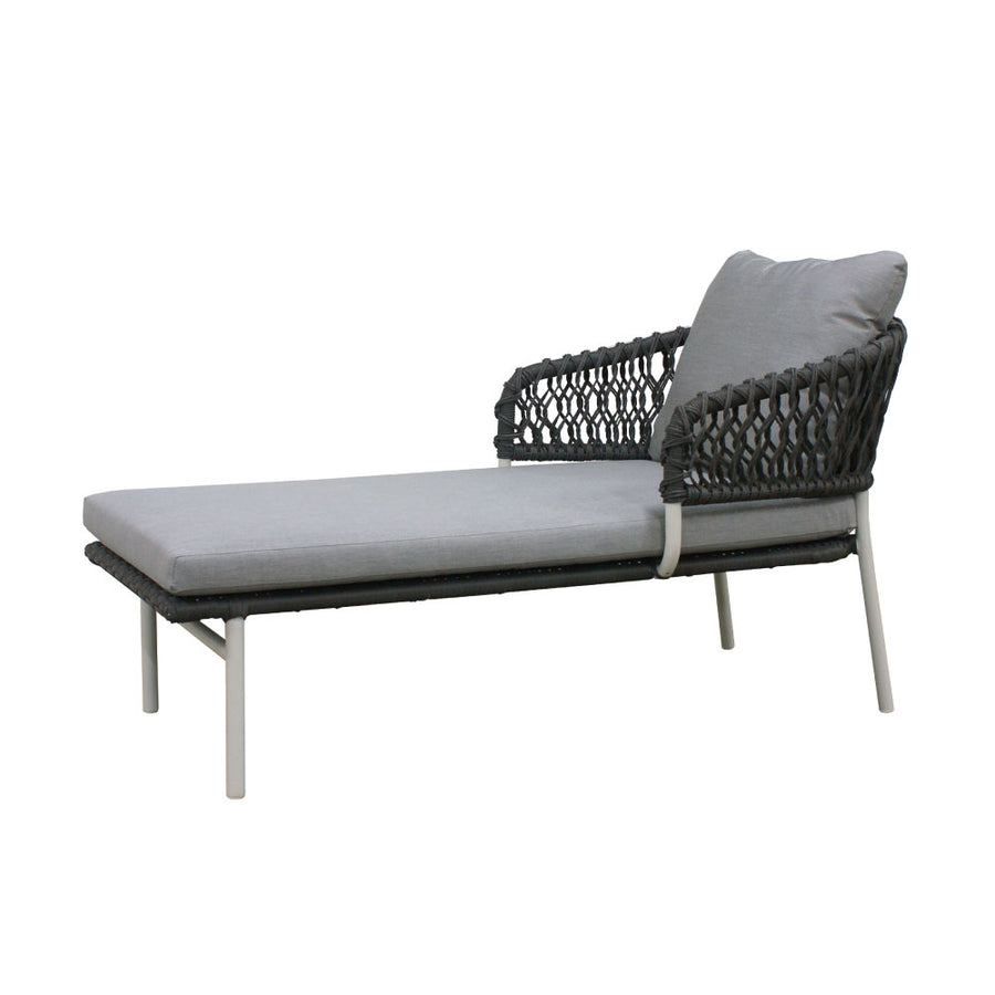 La Vie Sun Lounger in Light Grey