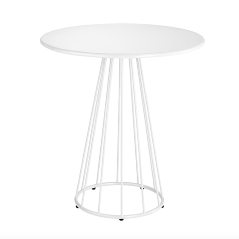 Resonate Outdoor Cafe Table in White