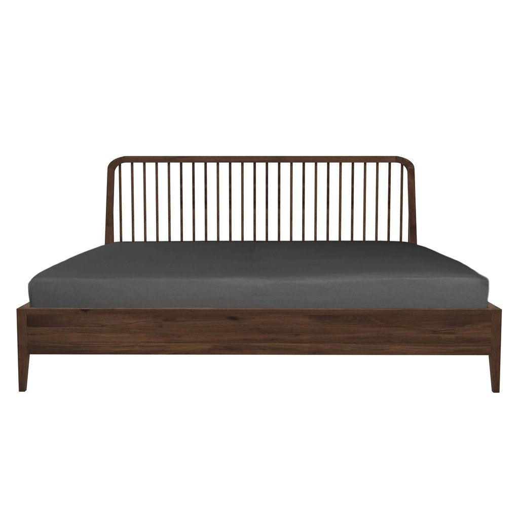 buy Ethnicraft Walnut Spindle King Bed online