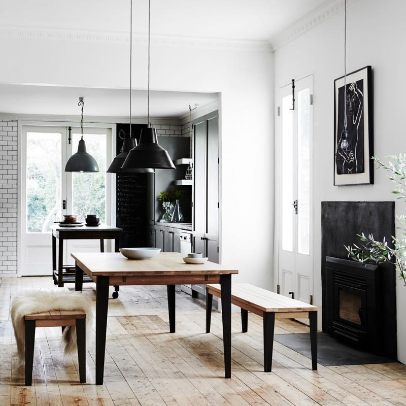 Industrial M Extension Dining Table