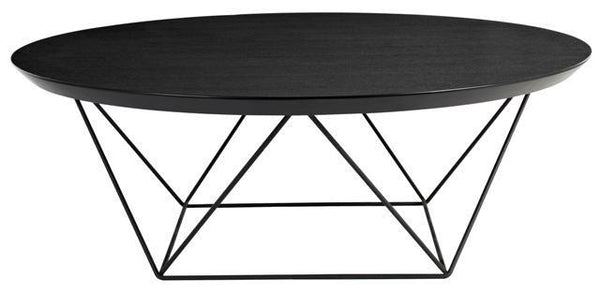 Como coffee table in black oak curious grace for Small round black coffee table
