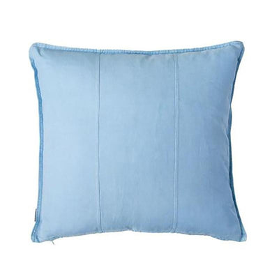 100% Pre-washed Soft Blue Linen Cushion