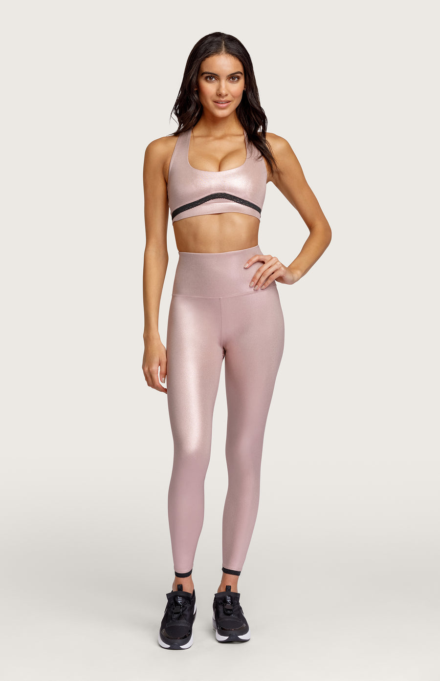 Adelie High Waist Leggings - Rose Gold