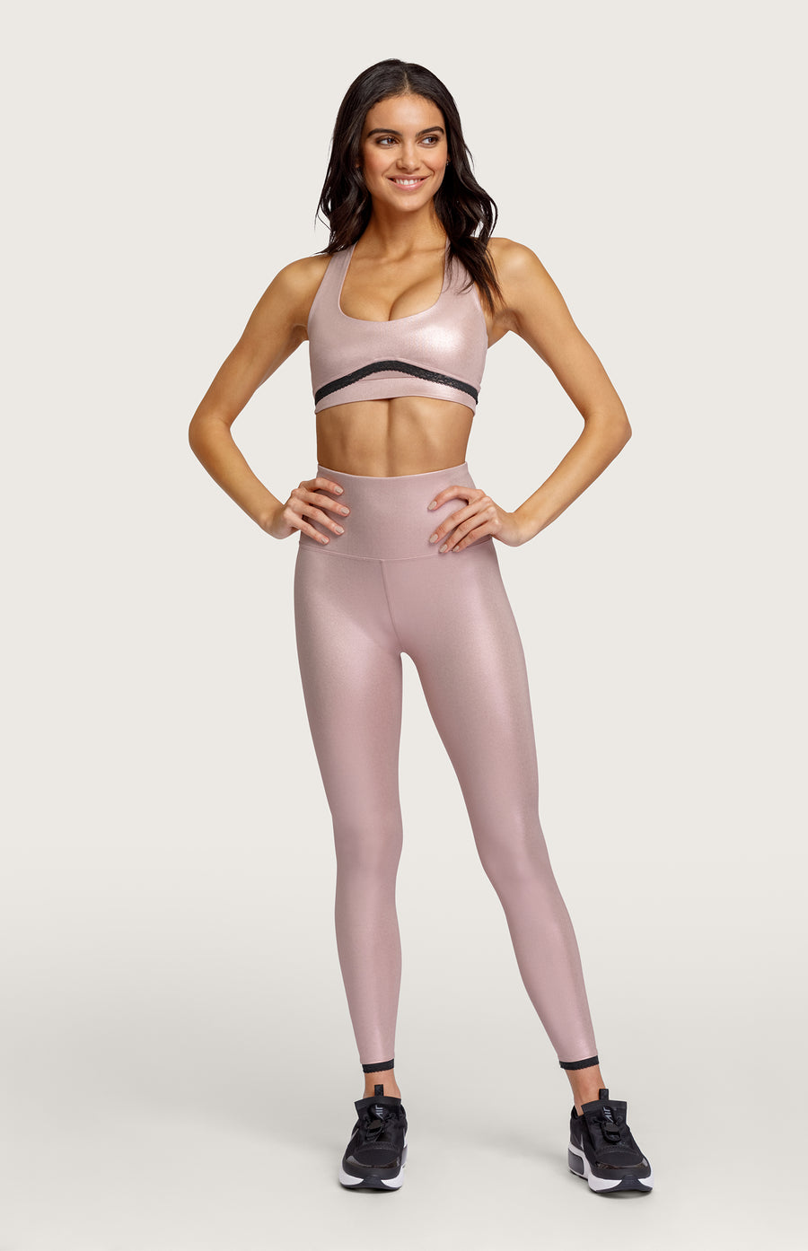 Axelle Sports Bra - Rose Gold