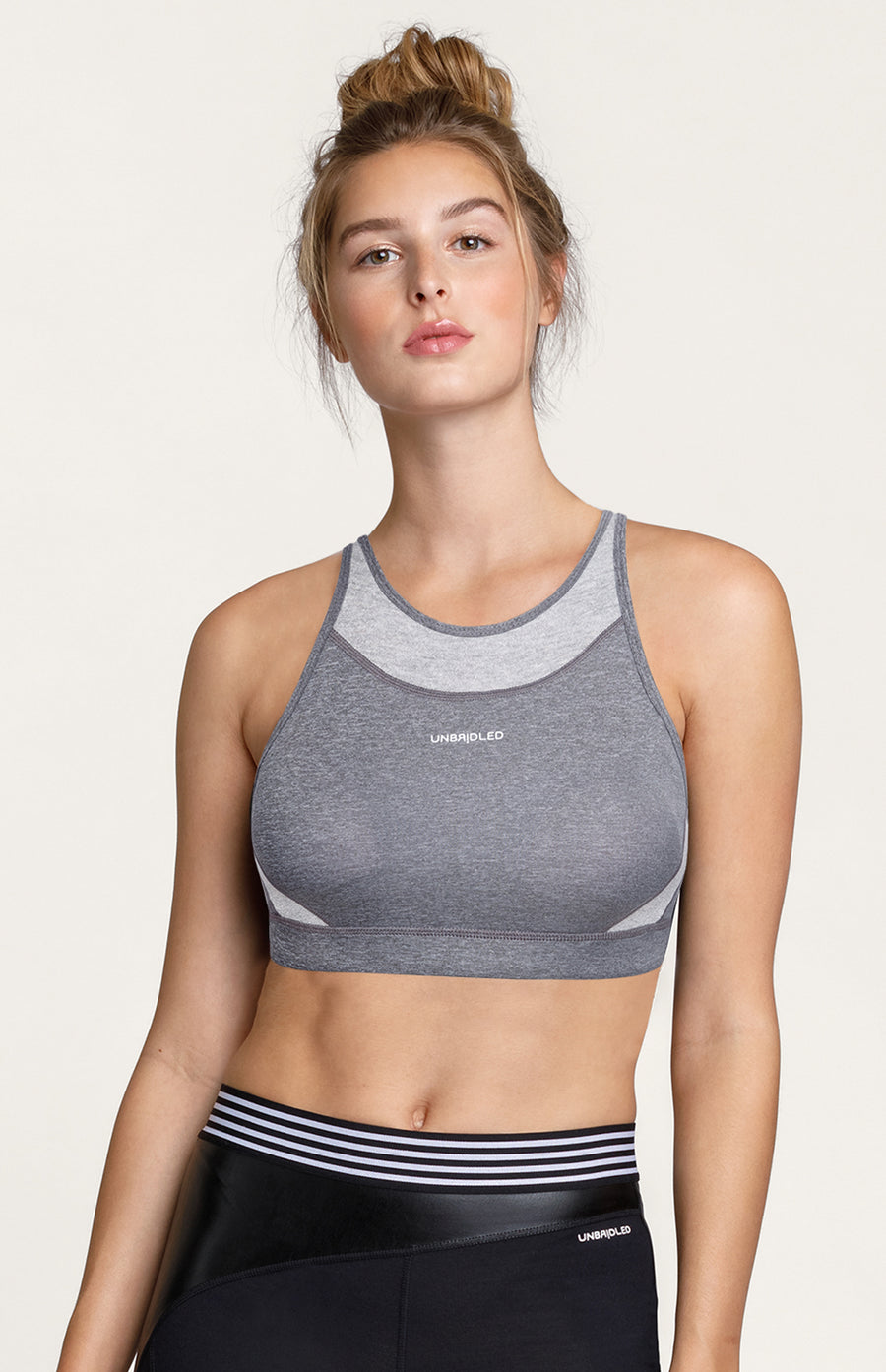 Scarlet Sports Bra - Charcoal Heather