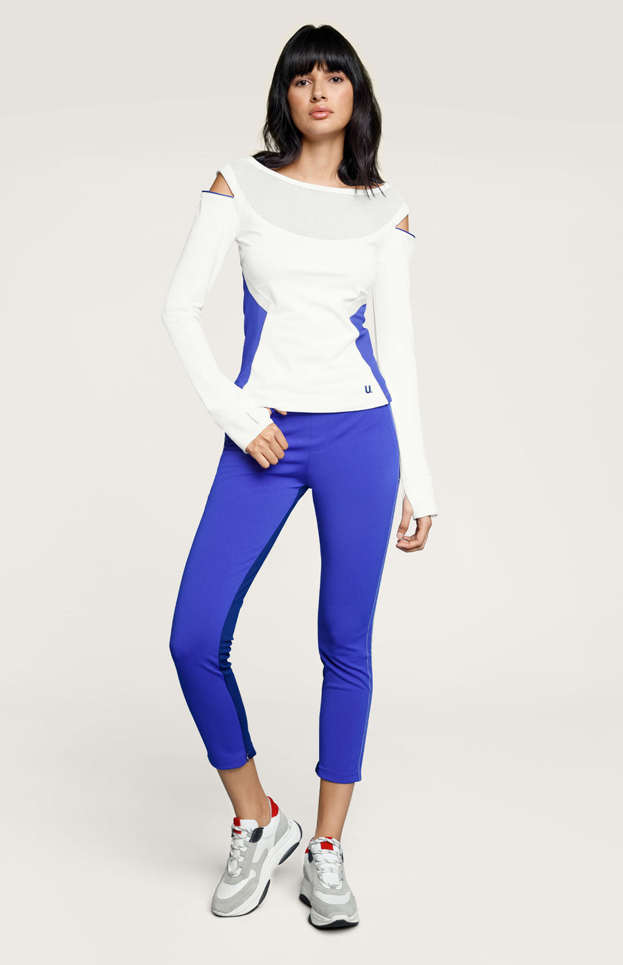 Bette Long Sleeve Mesh Yoke Top