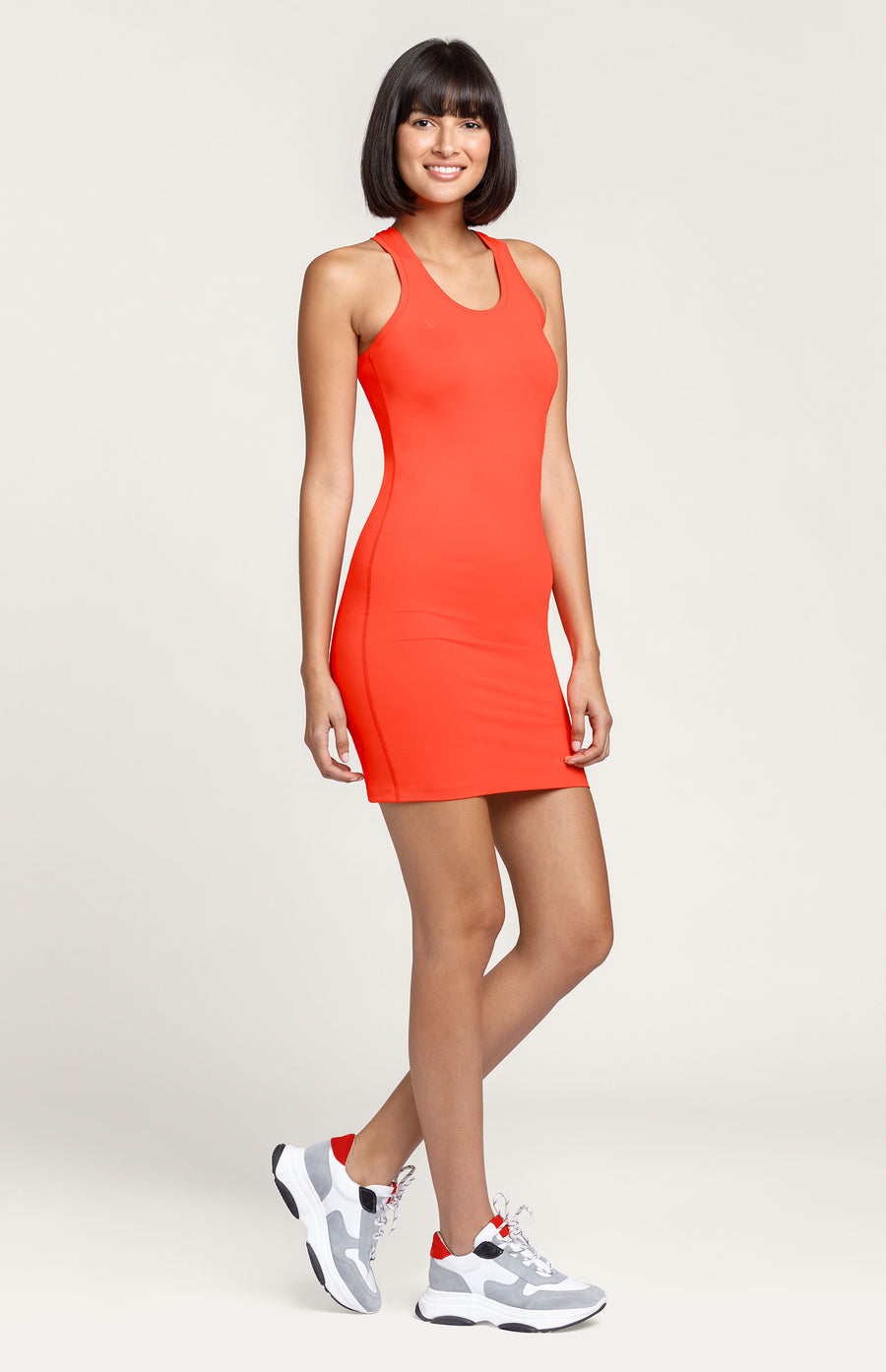 Eve Racerback Dress - Fiesta Red