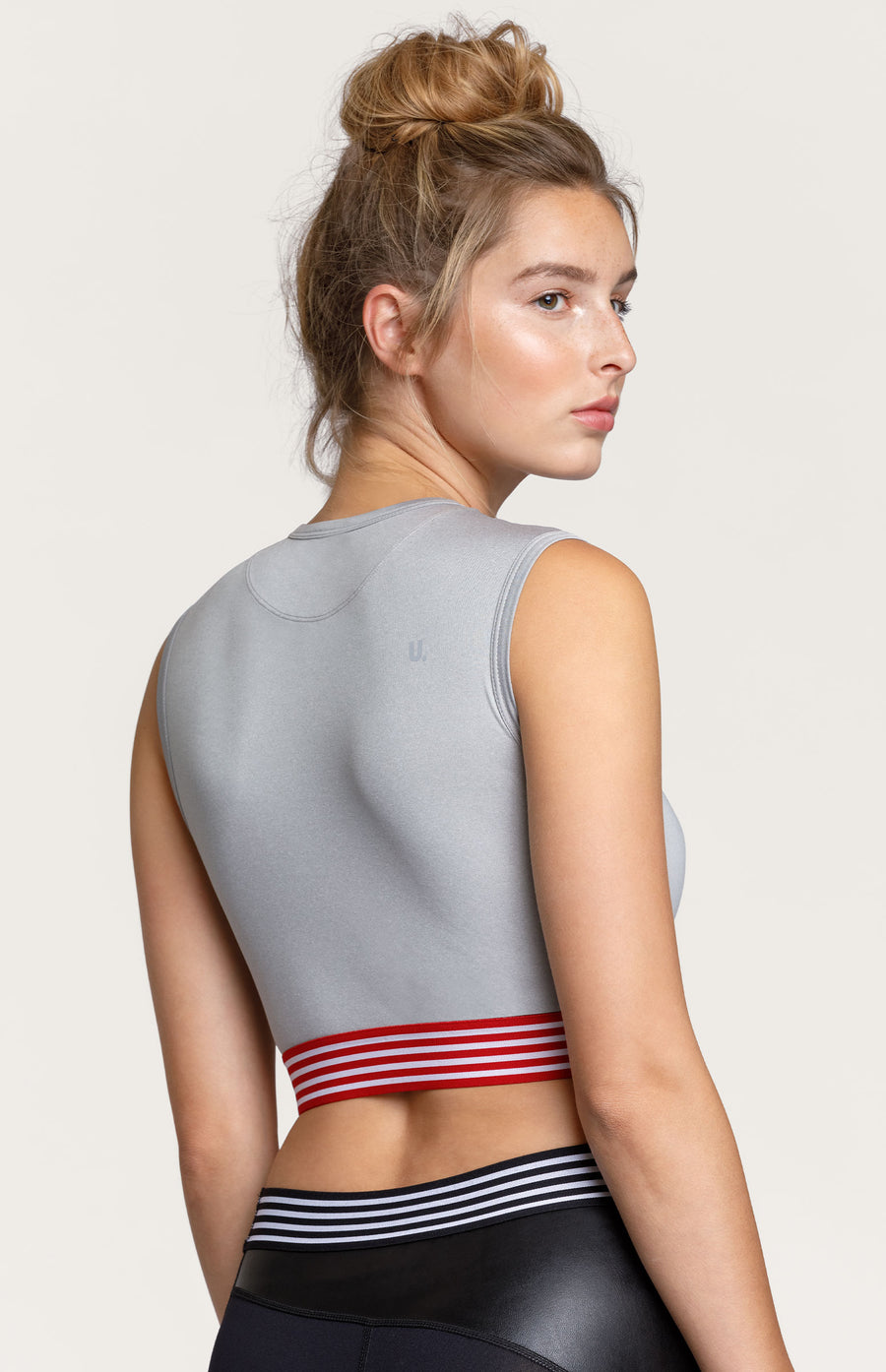 Sandra Cropped Top - Chine Grey