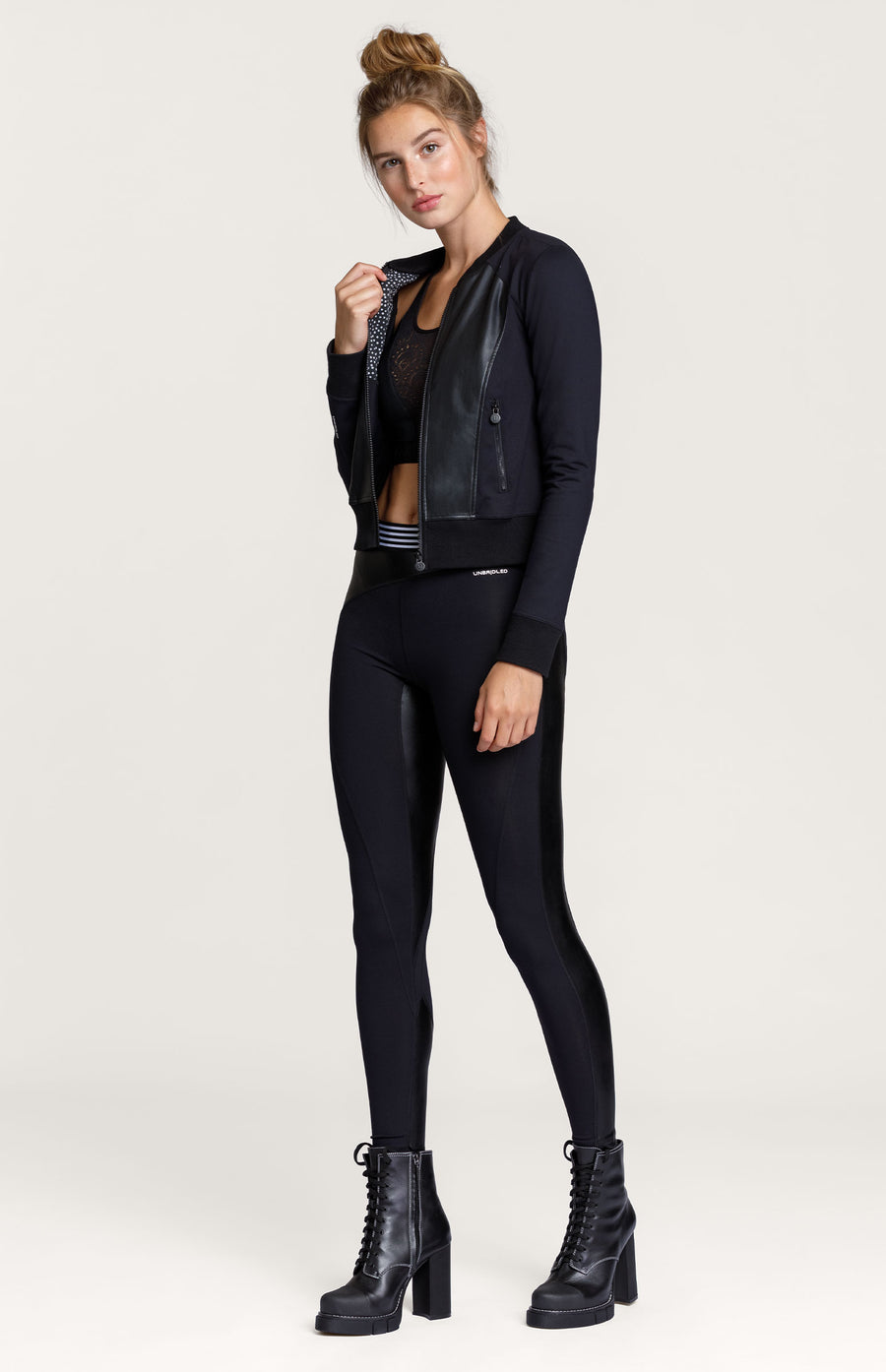 Joyner Faux Leather Legging - Onyx