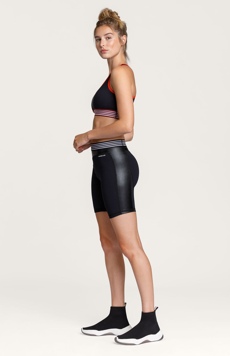 Tiki Faux Leather Short - Onyx