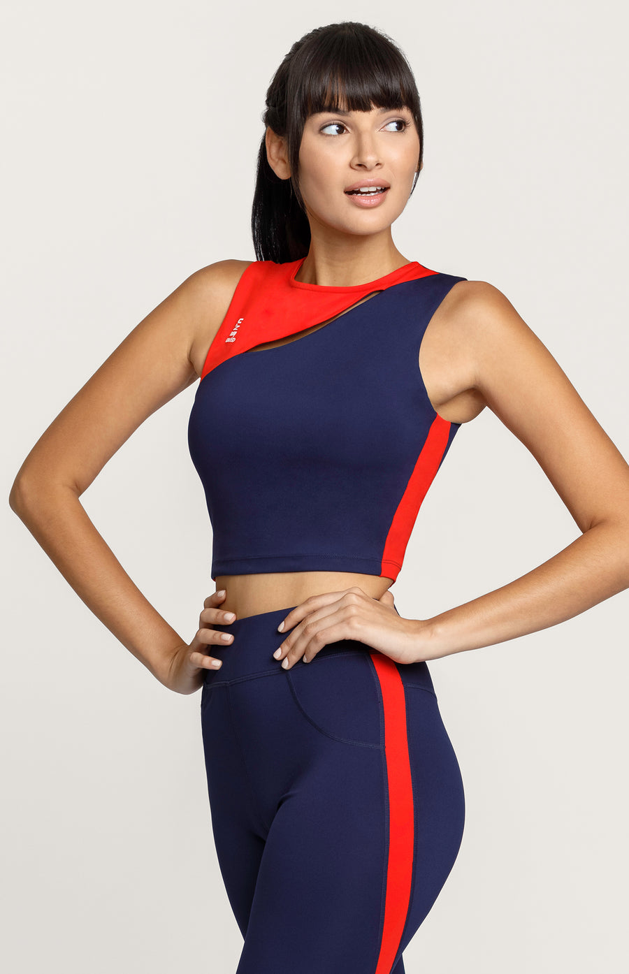 Abby Colorblock Sleeveless Crop Top