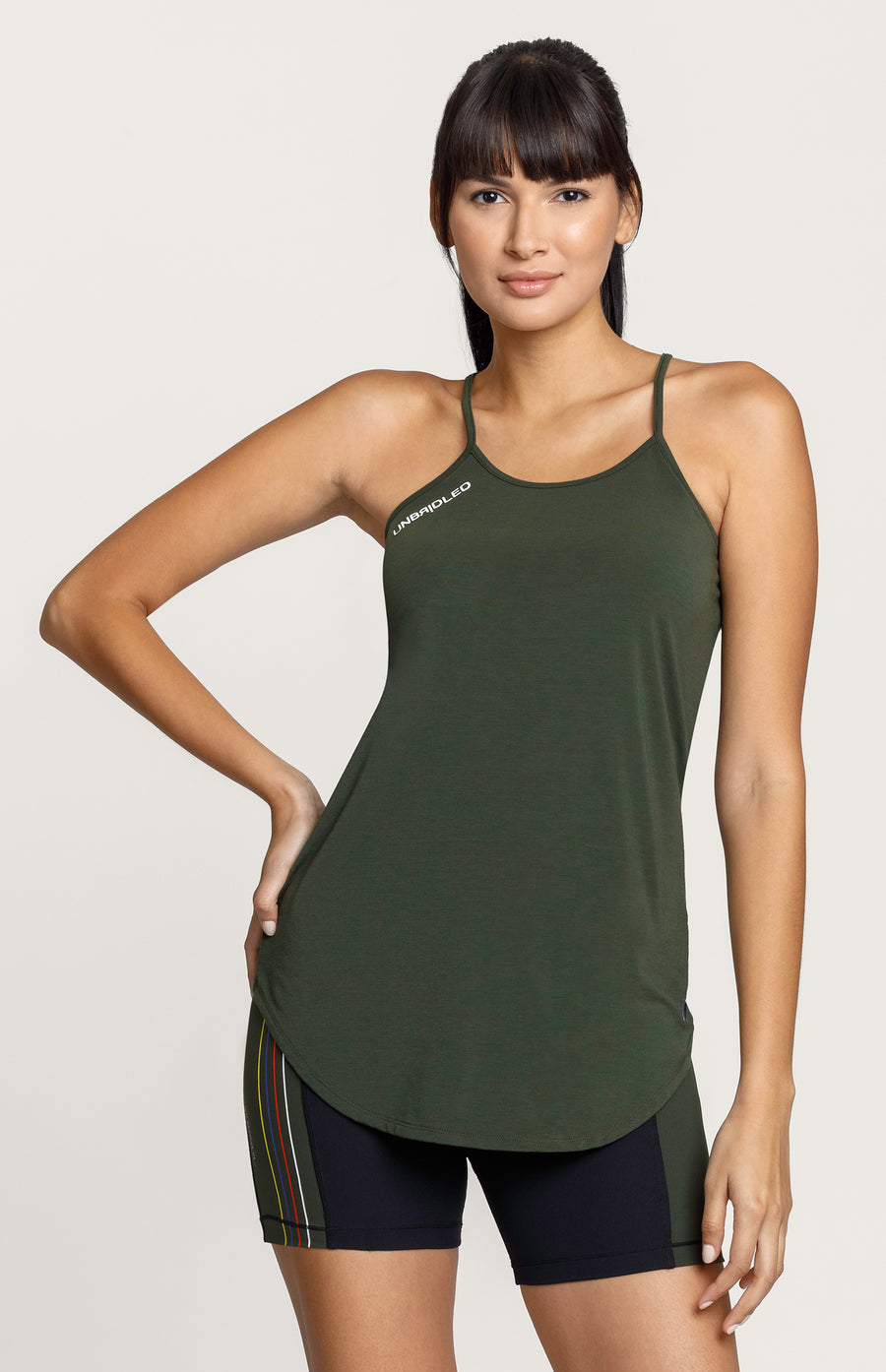Jane Army Green Feather Cami